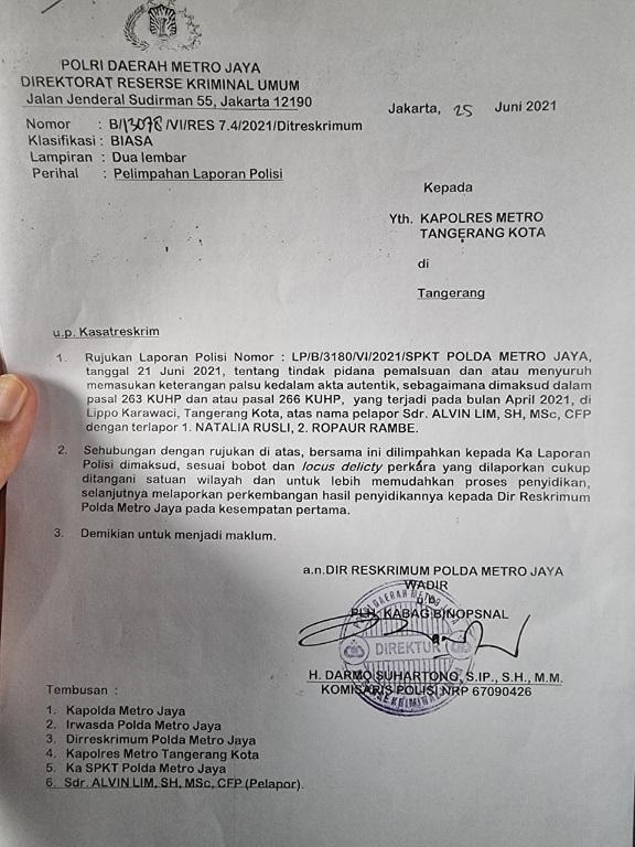 Ungkap PMJ Sarang Mafia, LQ Indonesia Lawfirm Bongkar Modus  Laporan Polisi di Polda Dilimpahkan ke Polres, Tapi Berkas Tidak Dikirim Agar Tidak Diproses