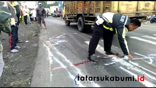 TKP Kecelakaan maut di Parungkuda Sukabumi / Foto : Isep. Panji (10/1/2019)