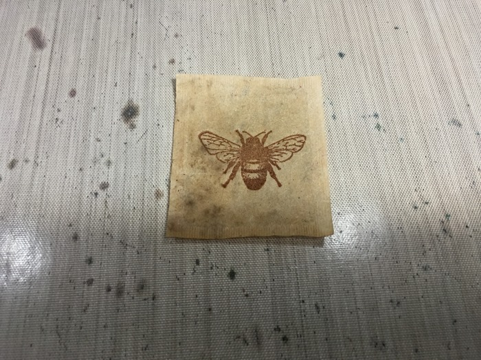 02 Bee Stamped on Teabag