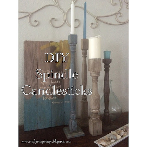 DIY Spindle Candlesticks