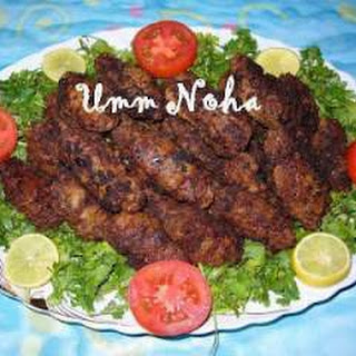 Fried Minced Beef Kofta.
