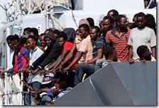Boom di migranti in Italia nel 2016