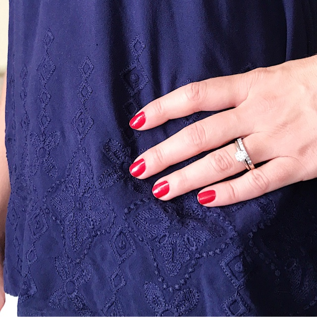 Thrifty Wife, Happy Life- cherry red nails for summer