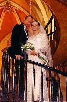 We were married in the Loretto Chapel in Santa Fe, home of the miraculous staircase