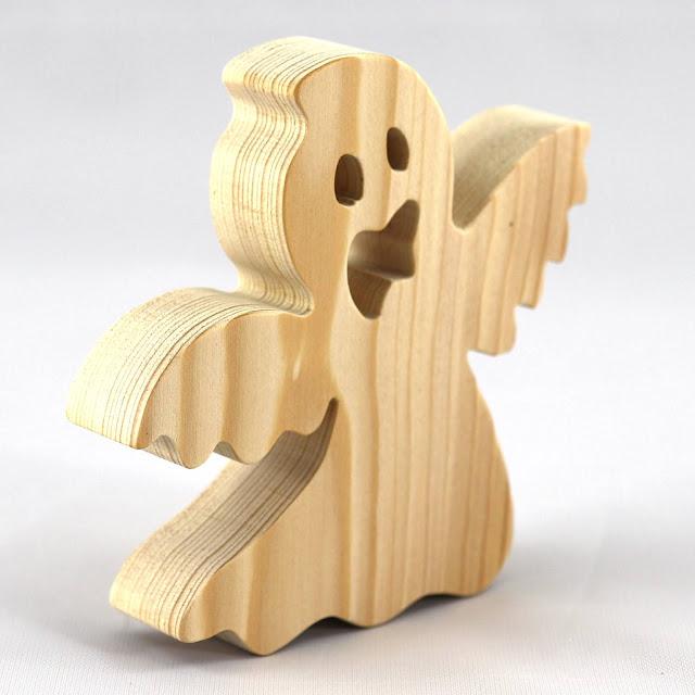 Handmade Wood Toy Ghost Cutout