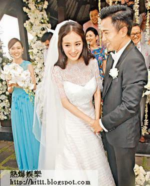 大婚當日,劉愷威小心照顧已懷孕的楊冪,而楊冪亦一臉幸福,羨煞旁人。
