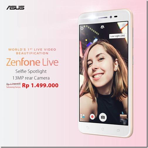 Harga Asus Zenfone Live ZB501KL Dipangkas, Makin Murah!