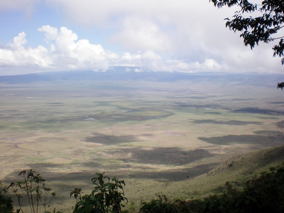 Overlooking Ngorongoro crater