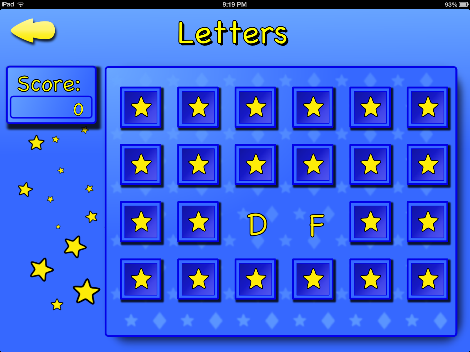 Mneemo Letter Memory Game