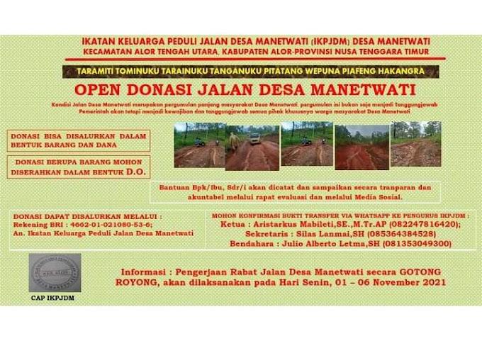 Buka Donasi Untuk Pembangunan Jalan Kabupaten Sepanjang 6 KM, Ini Penjelasan Ketua IKPJDM