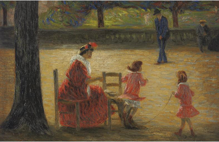 René Schützenberger - Au Jardin Du Luxembourg