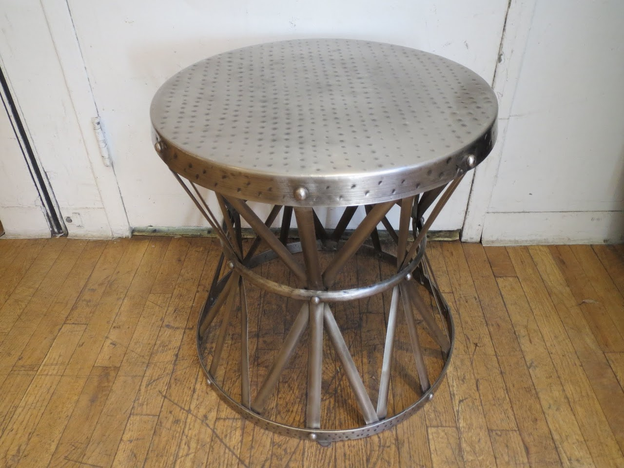 Hammered Metal End Table 2