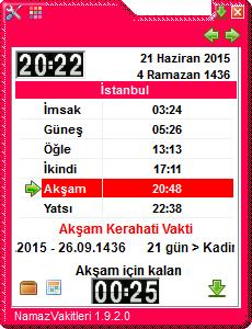 Namaz Vakti v1.9.2.0 Türkçe