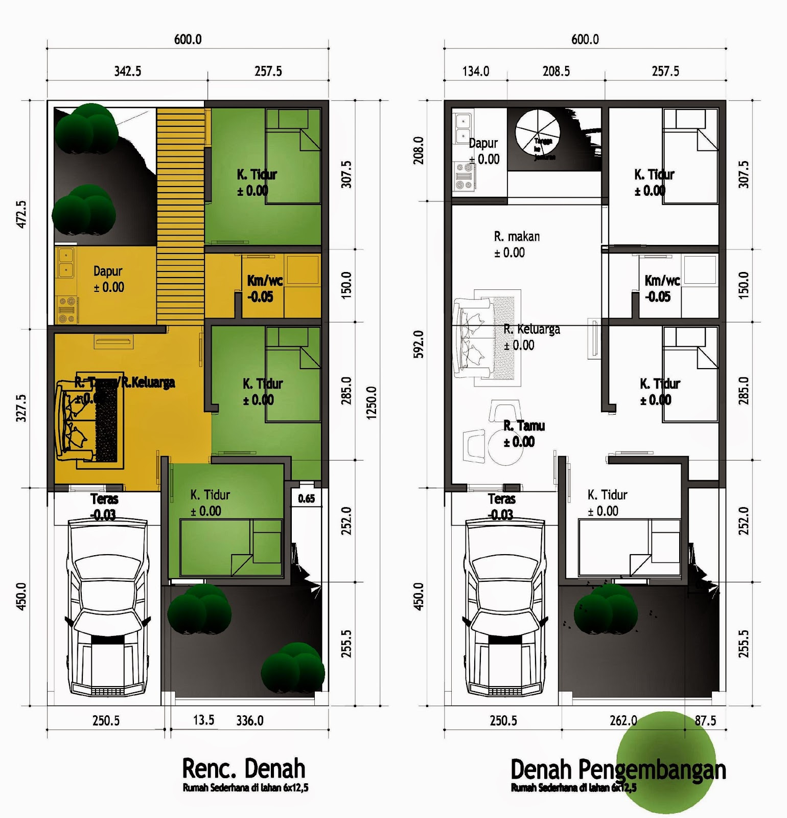 3 Contoh Denah Rumah Minimalis Modern Terbaru: Contoh Desain Rumah Minimalis Modern