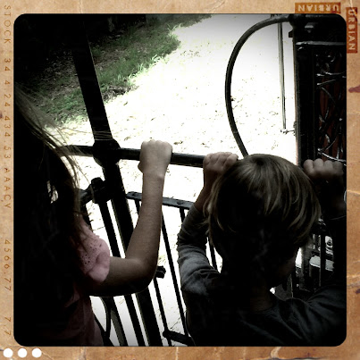 Hanging out between carriages at Steam Train Sunday