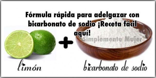 Tomar bicarbonato con limon para bajar de peso