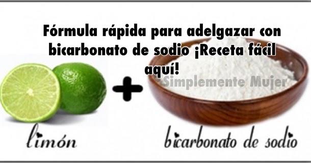 recetas para adelgazar bicarbonato