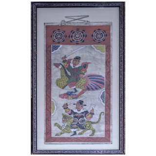 19th C. Asian Scroll Painting #2