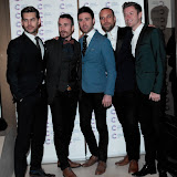 WWW.ENTSIMAGES.COM -  The Overtones  arriving at a Fundraising event in aid of Cancer Research UK at The Roof Gardens Kensington High Street, London April 3rd 2013                                                    Photo Mobis Photos/OIC 0203 174 1069