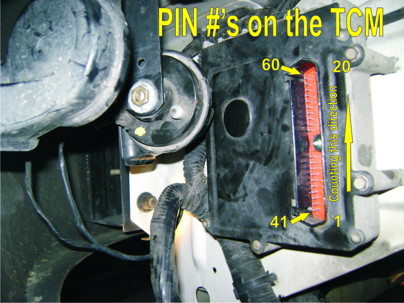 even this johnboy can diagnose 2001 chrysler voyager so that means that there was not a connection being made it is a lot easier to test the tcm after you pull it off and lay it flat on a table