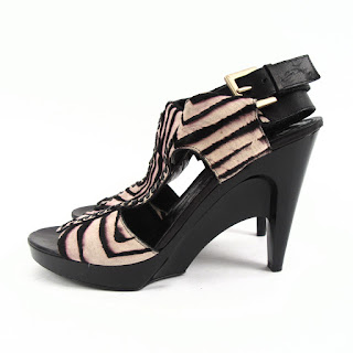 Givenchy Zebra Stripe Hide Buckle Sandal Pumps