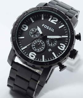 Jual jam tangan Fossil chrono aktif black