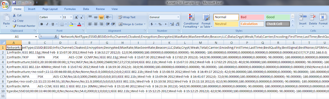 Kismet  CSV Log Report Generator ~ SmeegeSec