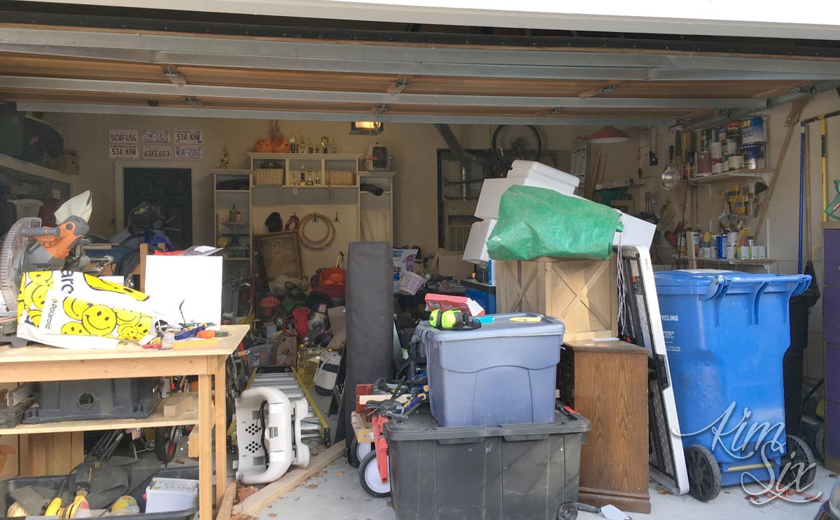 Garage filled with stuff