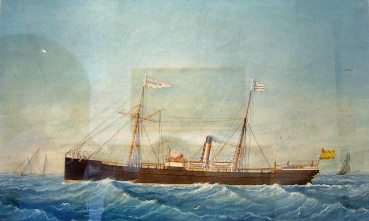 Vapor NAVIDAD. Acuarela de Jose Pineda Guerra. Agosto de 1882. Museu Maricel. Sitges.tif