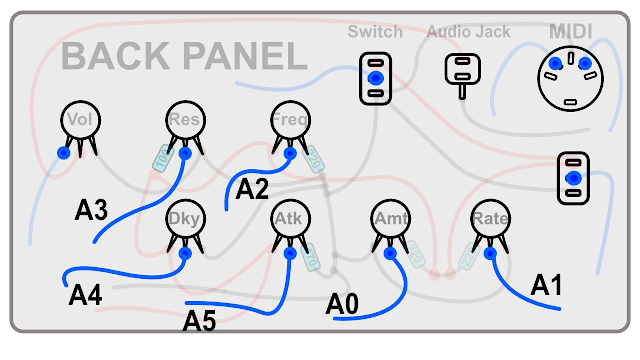DIY Synth build guide panel connections 17