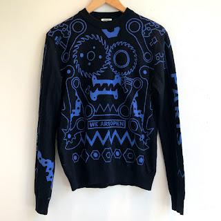 Kenzo Mechanical Intarsia Knit Sweater
