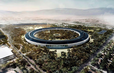 Apple Computer's 'spaceship' headquarters to be built on old HP Cupertino site