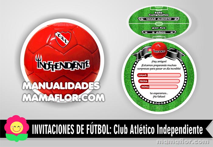 Tarjeta Invitación del Club Independiente