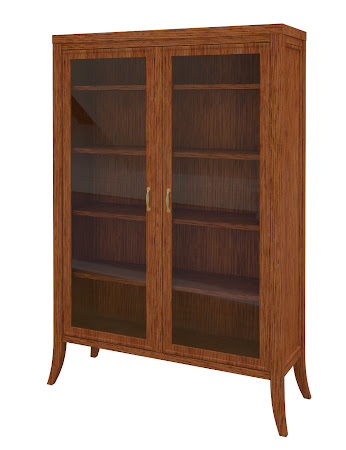 Strafford Glass Door Bookshelf in Washington Quarter Sawn Oak
