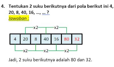 contoh soal dan pembahasan pola bilangan 4