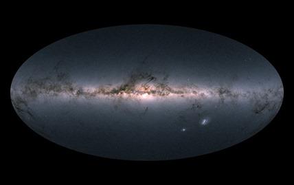 mapa com a Via Láctea e galáxias vizinhas