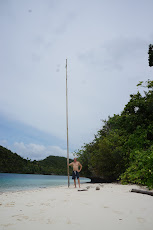 Johns flagpole on beach #3
