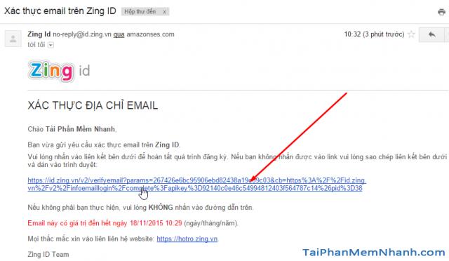 xác thực email