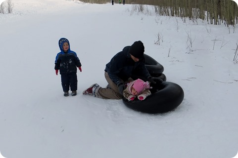 Sledding at Old Powderhorn