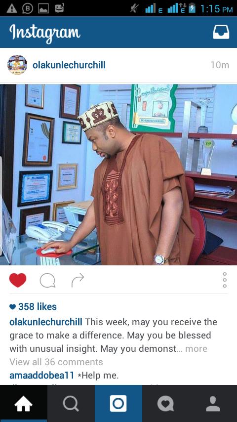 Olankule Churchil Join Tonto.Dikeh To.Preach in Social media