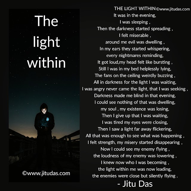 The light within a philosophical  poem by Jitu Das english poem