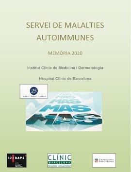 Servei de Malalties Autoimmunes-Memòria/Annual Report 2020