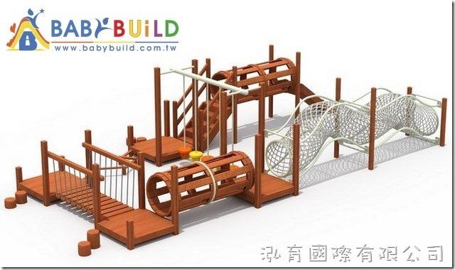 BabyBuild 兒童體適能木製遊具