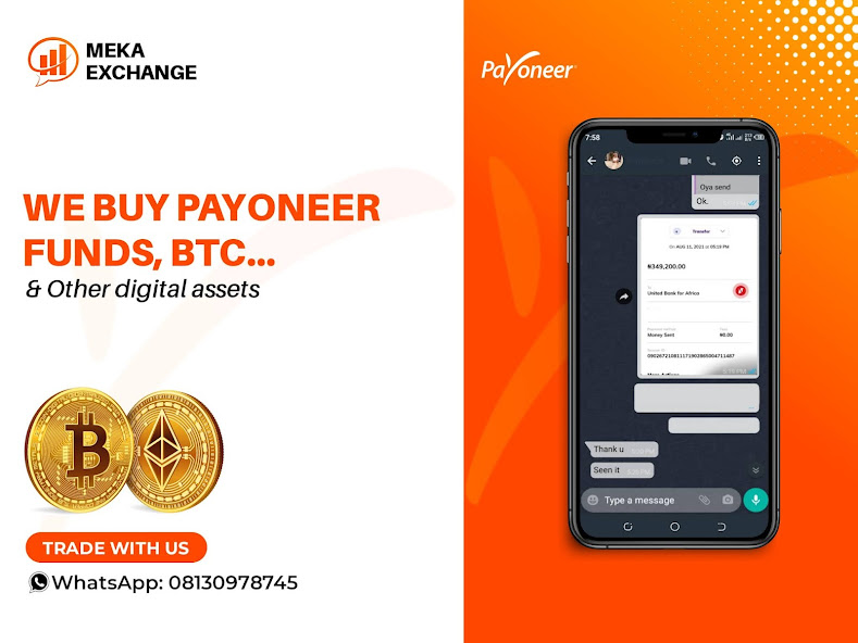 EXCHANGE YOUR PAYONEER FUNDS FOR CASH.