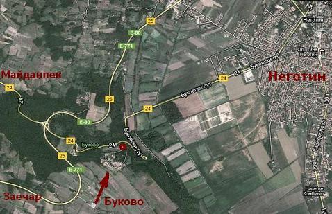 Карта Буково монастырь