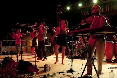 "Colombian band ""La Cumbia Chicarra"" at The Vox Mundi festival in Magliano in Tuscany"
