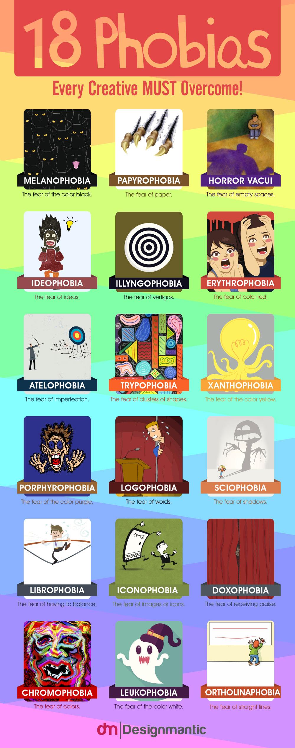 18 fobias que cualquier creativo debería superar