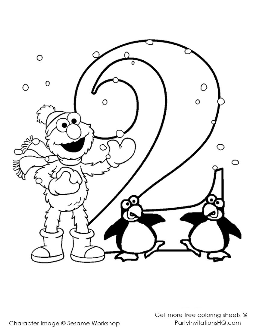 Best Elmo Coloring Pages Images