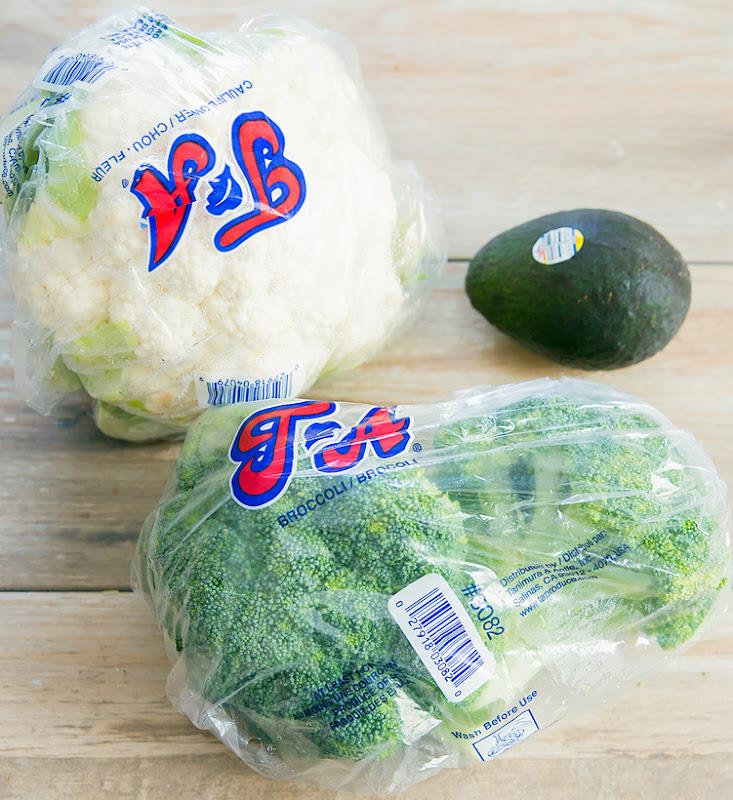 Photo of cauliflower, avocado, and broccoli