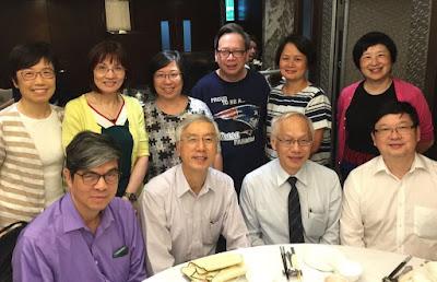 賴培德、李慧雲分別從美、英訪港,5月11日在潮庭聚餐